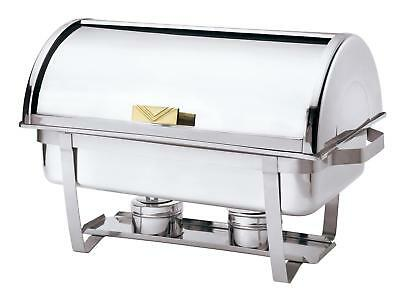 Browne Foodservice 575135 Full Size Stackable Chafing Dish w/ Roll Top Lid