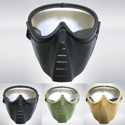 Outdoor Protective Tactical Helmet Airsoft Paintball Tactical Full Face Mask New