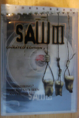 Saw III (DVD, 2007, Widescreen) Unrated Edition, w/Limited Edition art graphic