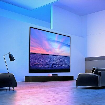 "84"" Inch Portable Projector Projection Screen 4:3 White Matte 3D HD Home Cinema"
