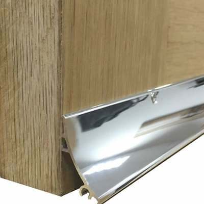 Stormguard RAIN DEFLECTOR Door Drip Bar Weatherboard Chrome Hardex Effect 914mm