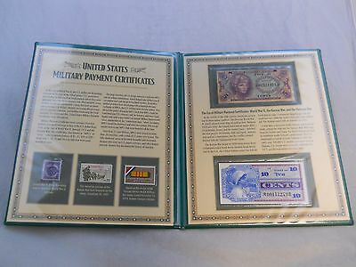 United States Military Payment Certificate Notes - In Album From PCS *Free Ship*