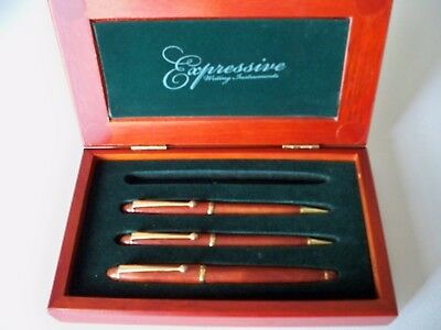 Rosewood Pen & Pencil 4 Piece Gift Set Expressive Writing Instruments