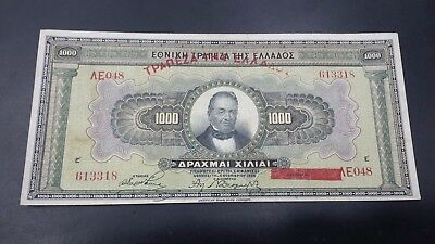 Greece  1000 Drachmai  1926 Banknote