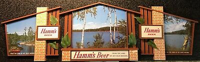 VINTAGE Theodore Hamm's POINT OF SALE  (PLASTIC) BEER ADVERTISING SIGN