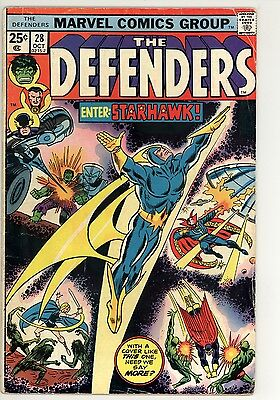 Defenders 28 - 1st Skyhawk - Bronze Age Classic - 4.5 VG+