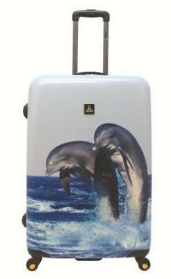 National Geographic Dolphin Hard Side Luggage FREE POSTAGE BNWT