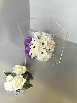 Acrylic Display cubes 5 Sided open 1 end 200mm