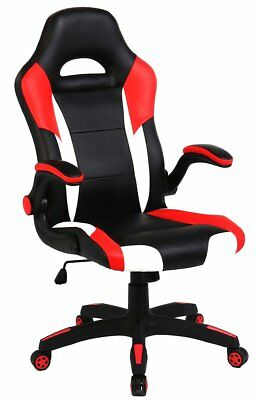 SEATZONE Racing Car Style Bucket Seat Gaming Chair, PU Leather Office Executive
