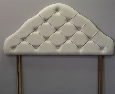 4ft small double ivory cream upholstered padded headboard bed head end board
