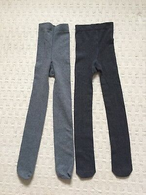 Marks & Spencer Girls Pack 2 Grey School Tights Age 5/6 Years New