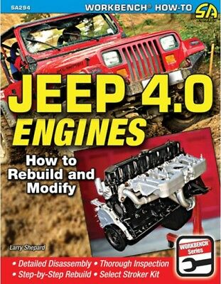 S-A Books Jeep 4.0 Engines How To Rebuild and Modify Book P/N 294