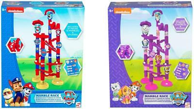 Kids Childrens Paw Patrol Marble Run Set Toy Game Race Construction With Marbles