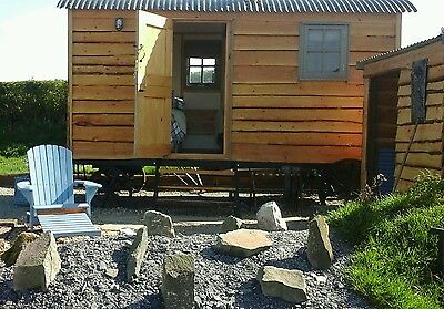 Shepherds hut glamping