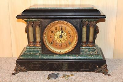 Elegant Seth Thomas Adamantine Mantle Clock ~ 1904 ~