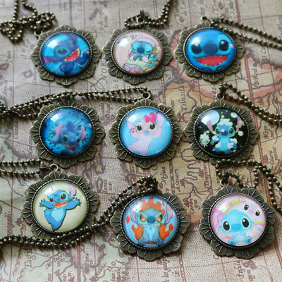 Disney Lilo And Stitch Kids Favour Birthday Christmas GIft Necklace 9 colors