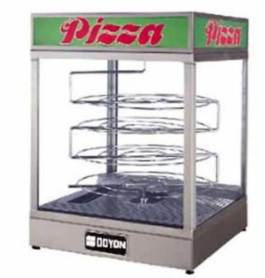 Countertop Pizza Display Case Warmer w/ 4-Tier Rotating Rack
