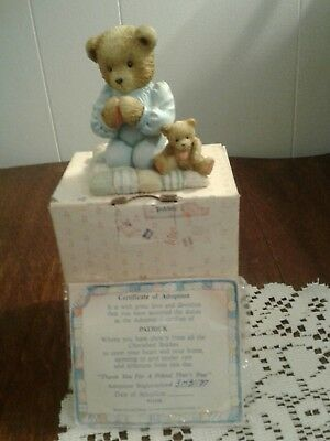 Enesco Cherished Teddies Patrick Thank You For A Friend That's True 911410