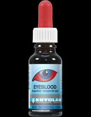 Kryolan RED Eyeblood- Fake Blood safe for eyes- Special FX Halloween Makeup