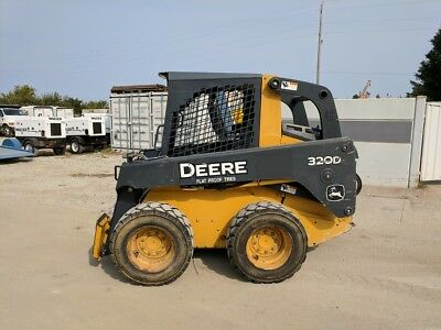 John Deere 2011 320D Skid Loader 1791 Hours Open Cab No Reserve