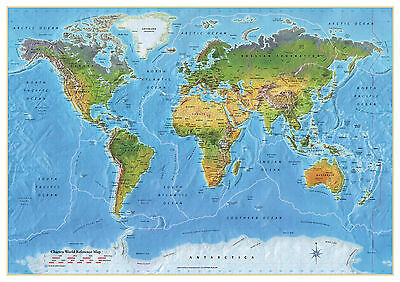 World Map Wall Chart Map of The World Poster