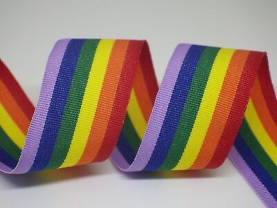 Pride Ribbon 25mm in 3m or 5m cut lengths - free postage