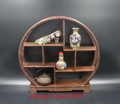 Rare solid hardwood curio shelves Stand Shelf Handmade Carving Deco Art