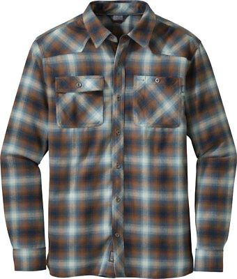 Outdoor Research Feedback Men's Flannel Shirt: Night/Saddle, SM