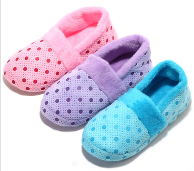 Women Soft Plush Indoor Couple Home Shoes Soft Winter Warm Antiskid Slippers