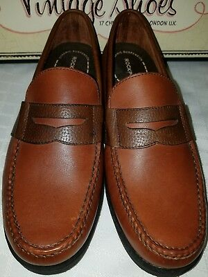 Rockport Classic Penny Loafer Men's Brown Leather Slip On Shoes 9.5 M