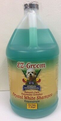 EZ Groom Professional Crystal White Shampoo for Dogs/Cats 3.8L (US Gallon)