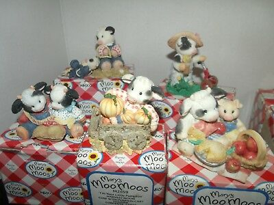 Mary's Moo Moos  Lot of 5 in boxes EUC