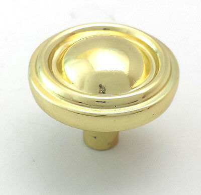 Belwith P411-PB Polished Brass Knob Cabinet Door Cupboard Drawer Pull Hardware