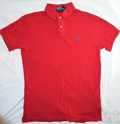 Ralph Lauren Pre Owned Red Polo Shirt Slim Fit Size M In Good Condition