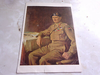 postcard of field marshall montgomery ww11. 1939-45. imperial war museum