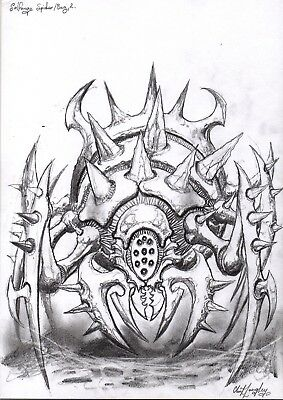 Solforge Spider Horror Phase 2 Original Art Clint Langley