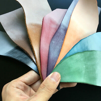 Leather Crafts Cowhide 2mm Thick Bags Purse DIY Material Multicolor Retro Luxury