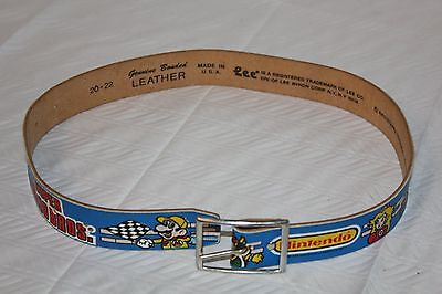 Vintage Nintendo Super Mario Bros Children's Leather Belt by Lee 1988