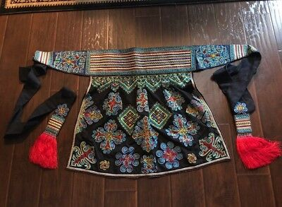 Vintage Mien Embroiderer Handmade Traditional Garment Skirt~Wrap~Baby Wrap