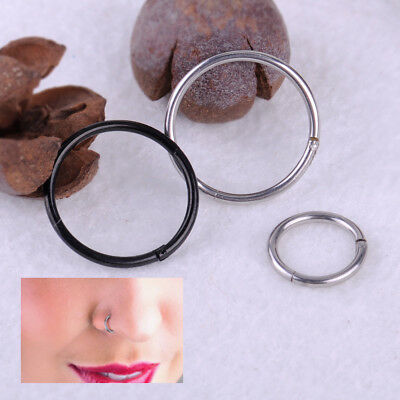 Titanium Hinged Segment Clicker Ring Hoop Ear Lip Nose Body Ring Septum Piercing