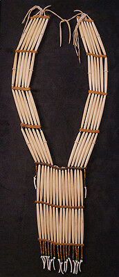 c1880 Woman's Bone Hairpipe Breastplate Necklace Native American Indian