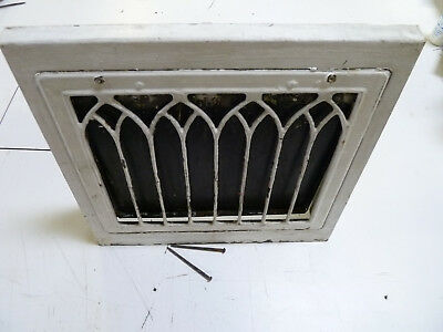 Antique Vintage Wall Heat Grate Register Working Operable Cathedral Gothic