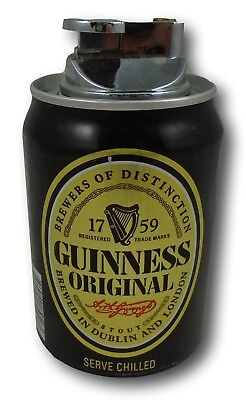 Guinness Original Stout Can Lighter Cigar Cigarette Used
