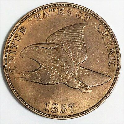 1857 Flying Eagle Cent Beautiful High Grade Coin Lot A