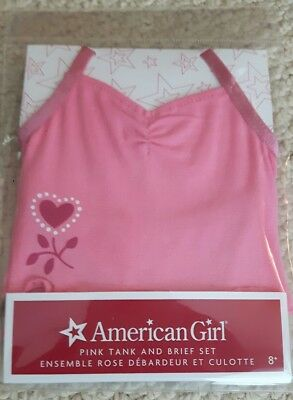 American Girl Pink Tank and Brief Set NEW in package