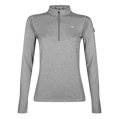 Euro-Star Polina Ladies Technical Shirt - Grey Melange: Large