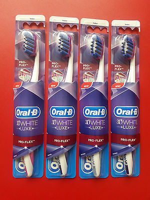 Oral-B 3D White luxe Pro Expert Pro Flex Manual Toothbrush Medium 4 pcs SALE !!