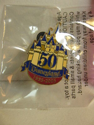 Disney Pin Disneyland 50 Years Castle Cast Member NEW From 2005