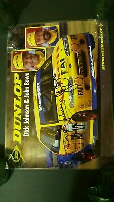 hand signed Dick Johnson and John Bowe poster