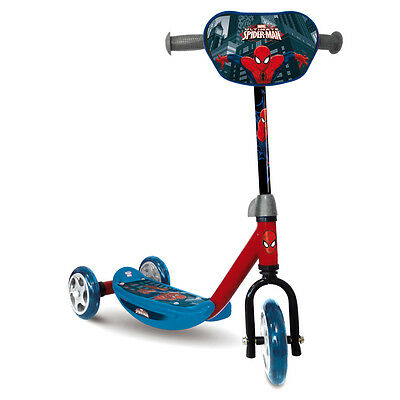 Spider-Man 3 Wheel Scooter, Kids Ride-On Tri Scooter.